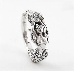 mermaid claudia handmade sterling engagement ring with a With mermaid wedding ring