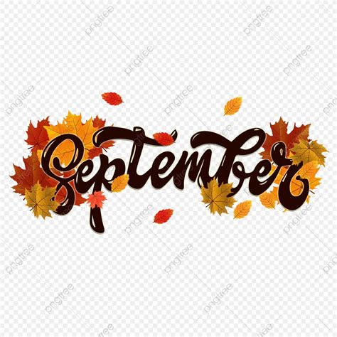 Autumn September Month Font Mapledesign Style Font Effect PSD For Free Download