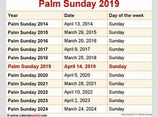 When is Palm Sunday 2019 & 2020? Dates of Palm Sunday