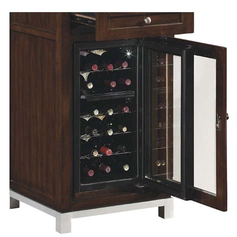 tresanti wesleyan collection audio pier with wine cooler meridian cherry ec6439rw22 c247