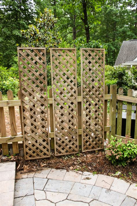 lattice privacy screen create a living wall lattice privacy screen pretty handy girl