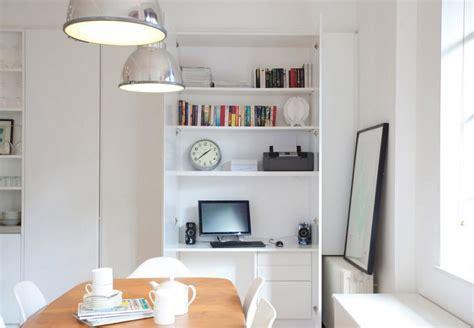 pc bureau compact arbeitsplatz und drucker im wohnzimmer verstecken ideen