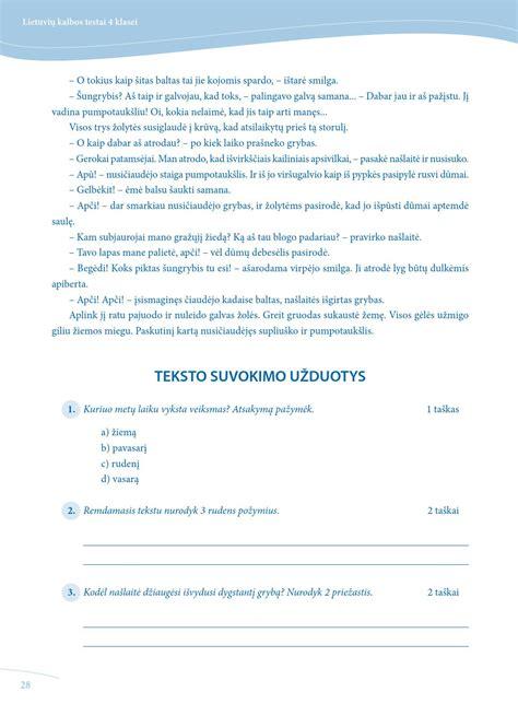Lietuviu kalbos testai 4 kl by knygos.lt - Issuu