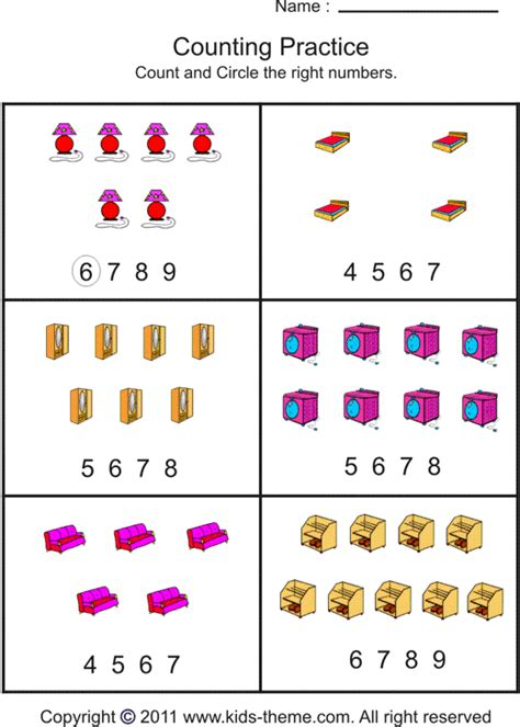 Free Counting Objects Worksheets Kindergarten  Download Them And Try To Solve