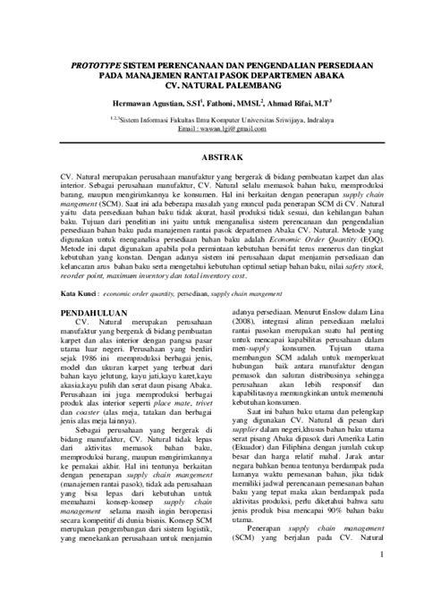 (DOC) Jurnal SCM Hermawan Agustian | Hermawan Agustian