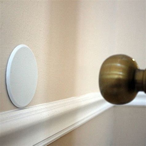 Door Knobs Protectors by 2pc Door Knob Wall Shield White Self Adhesive