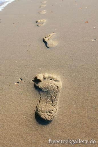 fussspuren  strand