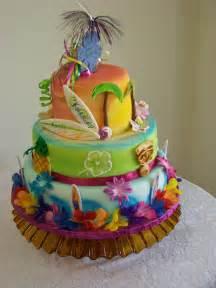 Hawaiian Cake Decorations hawaiian luau birthday cake best collections cake recipe