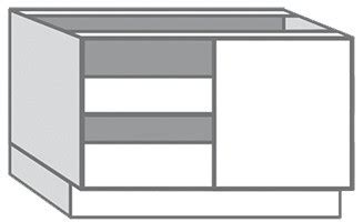 caisson d angle bas blanc ep 16 mm l 100 cm h 85 cm p