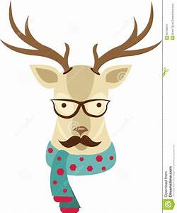 Reindeer Head Stock Illustration - Image: 55706013