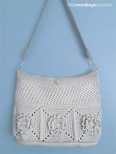 Wildflower Shoulder Crochet Bag AllFreeCrochet com