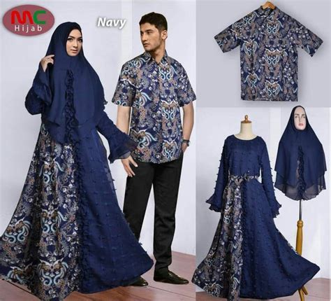 gambar baju batik pesta pernikahan couple model muslim