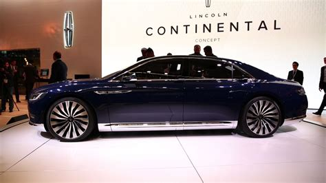 lincoln continental concept shows  future  american