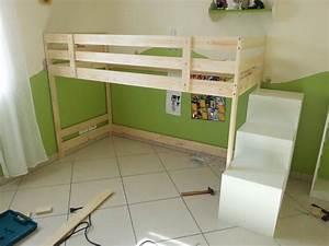 Lit Mi Hauteur Ikea : lit cabane sur une base ikea mydal ~ Melissatoandfro.com Idées de Décoration