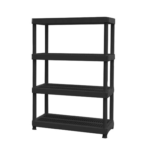 home depot shelfs hdx 4 shelf plastic ventilated storage shelving unit 19