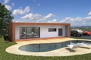 Maison Modulaire Bois : maison modulaire 85m bois hqe jardinaterre pinterest ~ Melissatoandfro.com Idées de Décoration