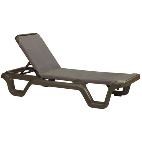 chaise grosfillex grosfillex marina stacking adjustable sling chaise bronze
