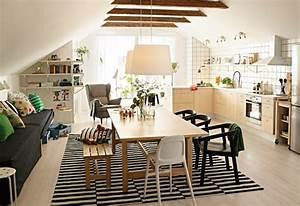1001 conseils et exemples de deco interieur d With meuble de salle a manger avec tapis cuisine scandinave