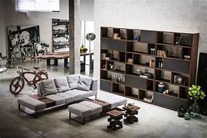 meuble bois 25 suggestions pour interieurs modernes With tapis de yoga avec canapé campagnard chêne