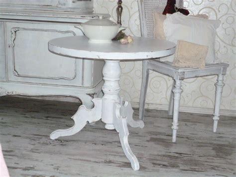 ♥*~ Kleiner Runder Tisch Im Shabby Chic