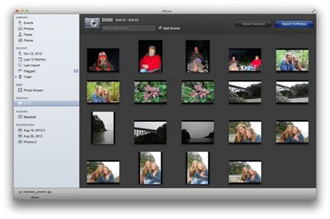 how to import photos from iphone to iphoto how to import and view images in iphoto macworld