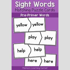 Practice Basic Sight Words For Kindergarten With Puzzle Cards  Mamas Learning Corner