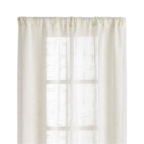 briza 50 quot x96 quot ivory sheer linen curtain panel crate and