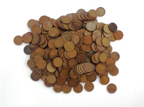 lot   mixed wheat pennies circulated condition unsearched