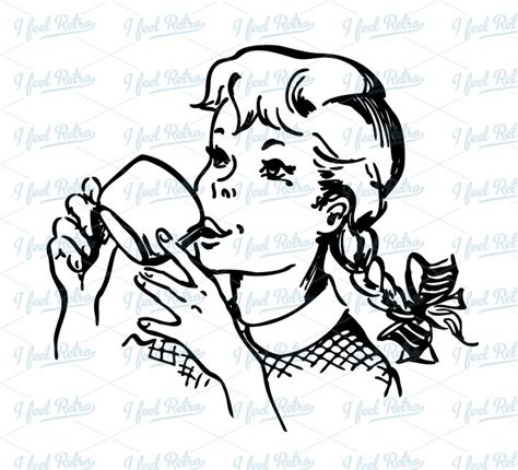 sip clipart black and white milk clipart 9