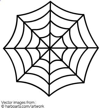 spider web template spider web vector graphic