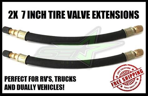 2 Tire Valve Stem Extensions 7 Inch Extended Valve Lines 4