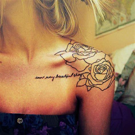 Flower Shoulder Tattoos  The Arts