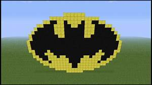 minecraft pixel art ep15 batman logo hd youtube With minecraft pixel art templates batman