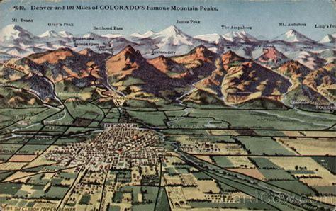 denver   miles  colorados famous mountain peaks