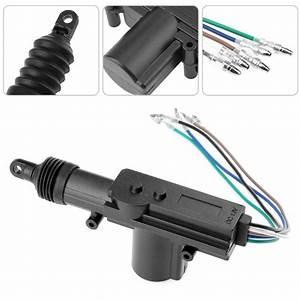 5 Wire 12v Car Auto Locking System Actuator Single Gun Type Central Door Lock Motor 160mm