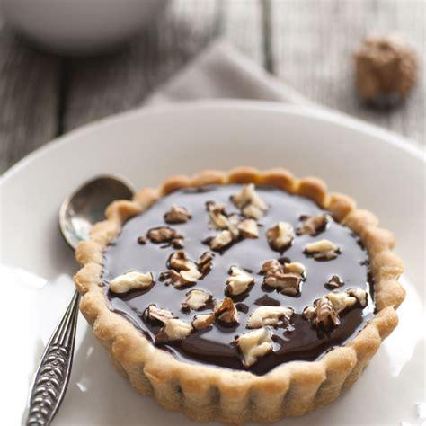 recette mini tartelettes au chocolat  aux noix