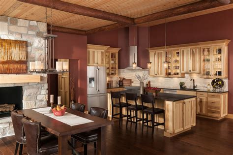lights in kitchen cabinets cottage hickory cabinets 7075