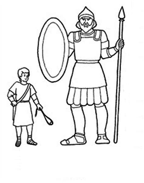 image result  david goliath colouring page kids