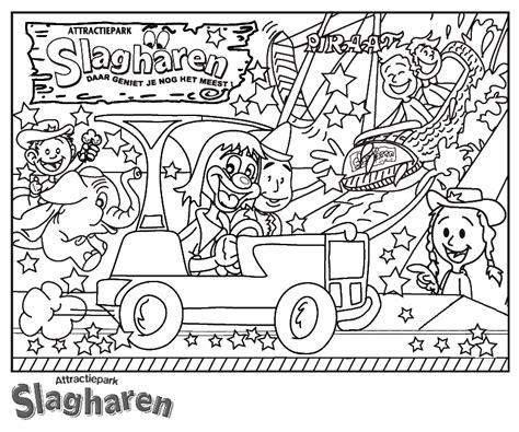 Kleurplaat Slagharen by Pretpark Kinder Kleurplaten Slagharen