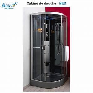 Cabine De Douche Bricoman : cabine de douche hydro ned grise 90 x 90 sachcabnedrg90 aqua ~ Dailycaller-alerts.com Idées de Décoration