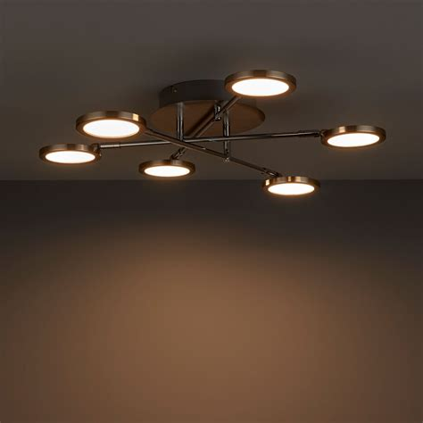 equium brushed chrome effect  lamp ceiling light