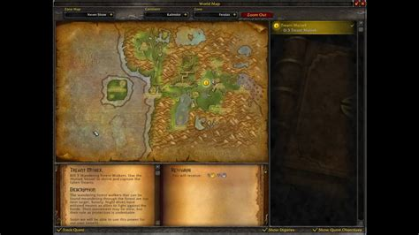 World Of Warcraft Quests Treant Muisek Youtube