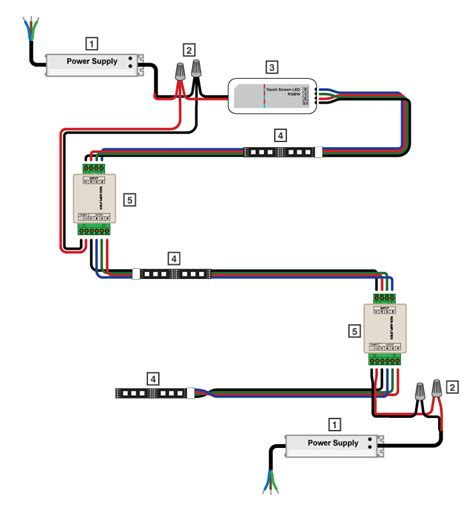 3 Wire Remote Wiring Diagram Led Light by Rgb A4 Rgb Lifier Bright Leds