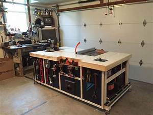 Rolling Table Saw Cabinet Plans - WoodWorking Projects & Plans