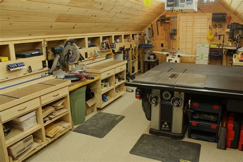 woodshop workshop  floor  garage
