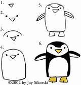 Pingouin Pingwin Zuidpool Noordpool Pinguin sketch template