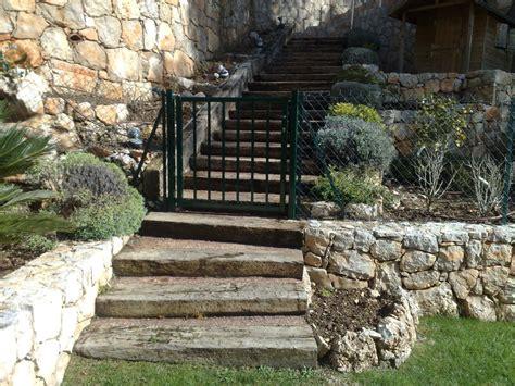 escalier en traverse de chemin de fer escaliers en poutre de chemin de fer escaliers de jardin