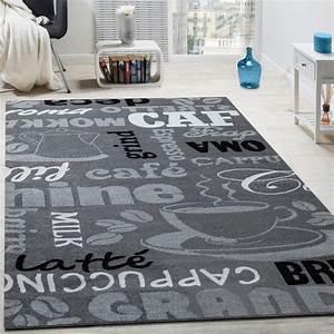 Teppich Für Essbereich : designer teppich kaffee typografie design trendig modern ~ Michelbontemps.com Haus und Dekorationen