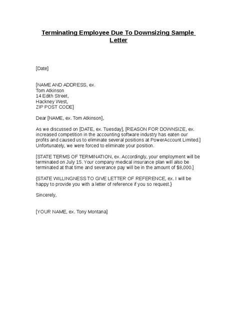 employee termination template brilliant employee termination letter sle with downsizing reason vatansun