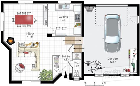 plan maison demi niveau 4 chambres plan de maison 90m2 a etage